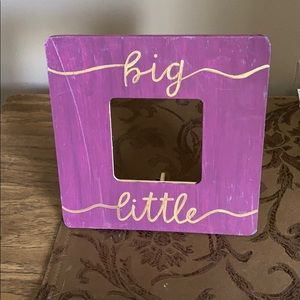 BIG LITTLE STANDING PHOTO FRAME💜